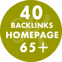 40 backlinks homepage DA65+
