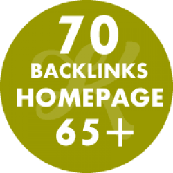 70 backlinks homepage DA65+