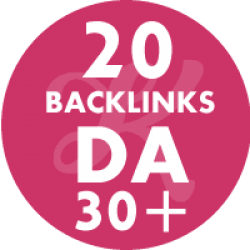 20 Backlinks em site DA30+