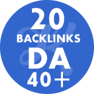 20 Backlinks em site DA40+
