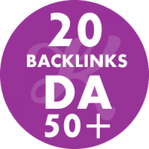 20 Backlinks em site DA50+