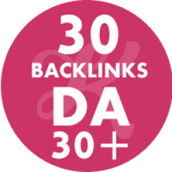 30 Backlinks em site DA30+