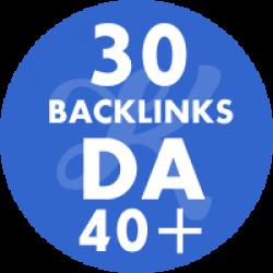 30 Backlinks em site DA40+