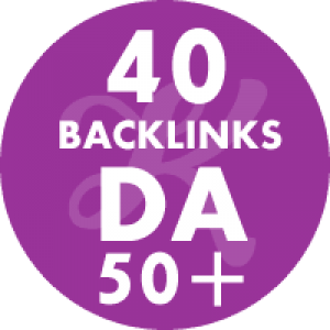 40 Backlinks em site DA50+