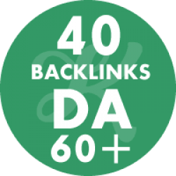 40 Backlinks em site DA60+