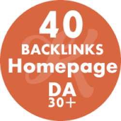 40 Backlinks Homepage DA42+