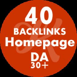 40 Backlinks Homepage DA32+