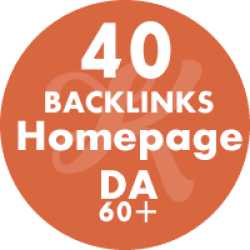 40 Backlinks Homepage DA60+